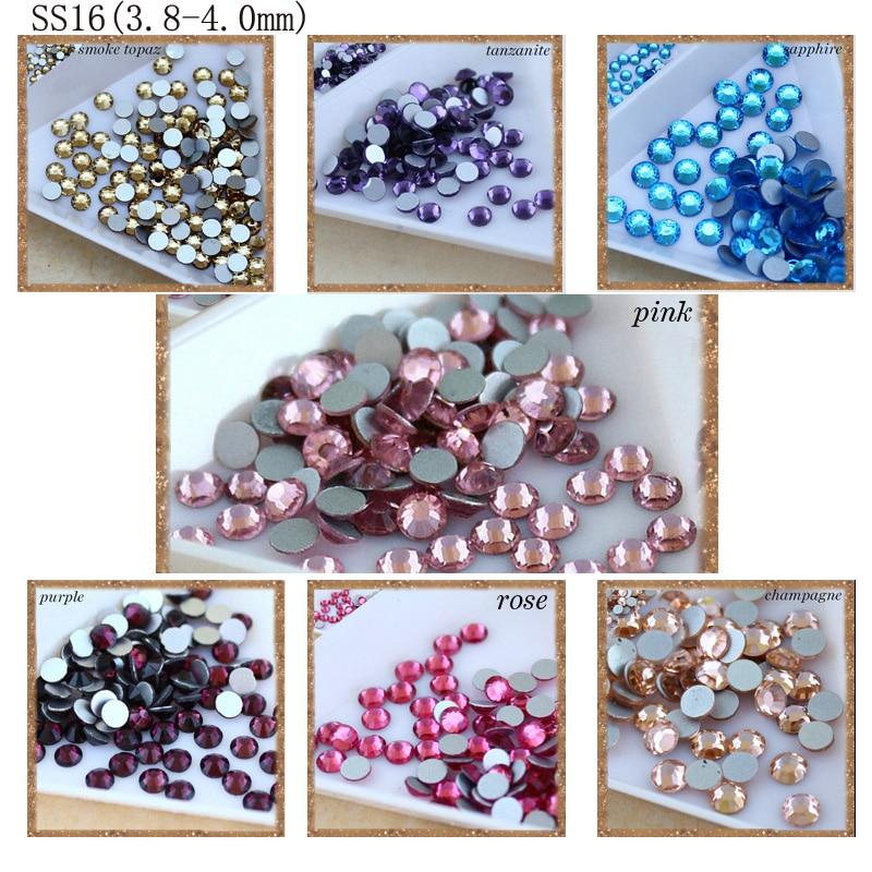 Smykker som gjør perler 1440pcs / pakke SS16 lim på flatback, - Kunst, håndverk og sying - Bilde 3