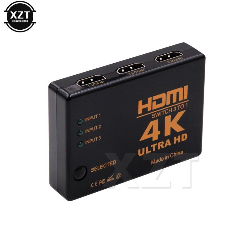 HTB1Lk6talTH8KJjy0Fiq6ARsXXas 1PCS 3 Port 4K*2K 1080P Switcher HDMI Switch Selector 3x1 Splitter Box Ultra HD for HDTV Xbox PS3 PS4 Multimedia HOT sale