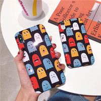 100PCS Luxury Silicone Case For iPhone 6 6S Plus Soft Phone Back Cover Coque Cartoon Monsters For iPhone X XS XR XS MAX 7 8 Plus