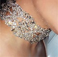 2017 New Arrival Gorgeous Crystal Bride choker necklace Fashion Noble crystal Gold clavicle necklace for ladies wedding gifts