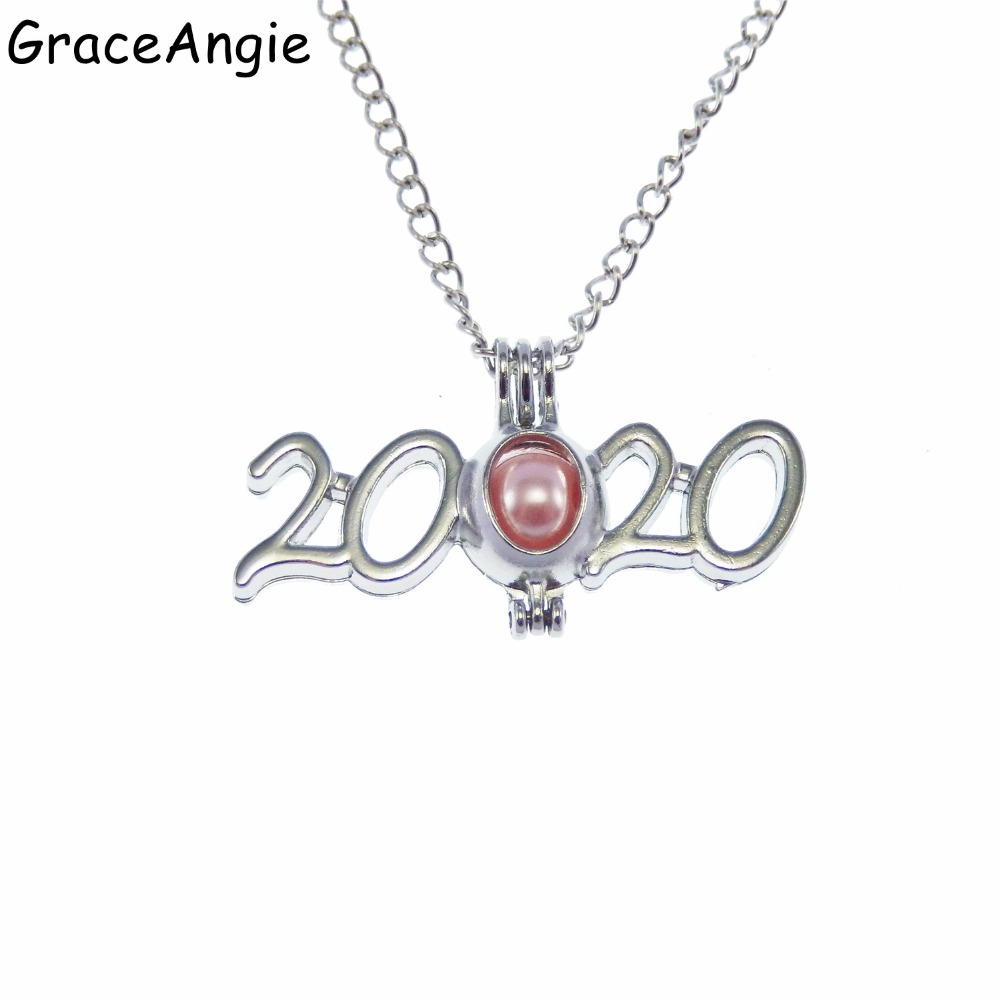 Best Oil Diffuser 2020 Year 2020 Pearls Cage Pendant Charms Womam Men Beads Oil Essential