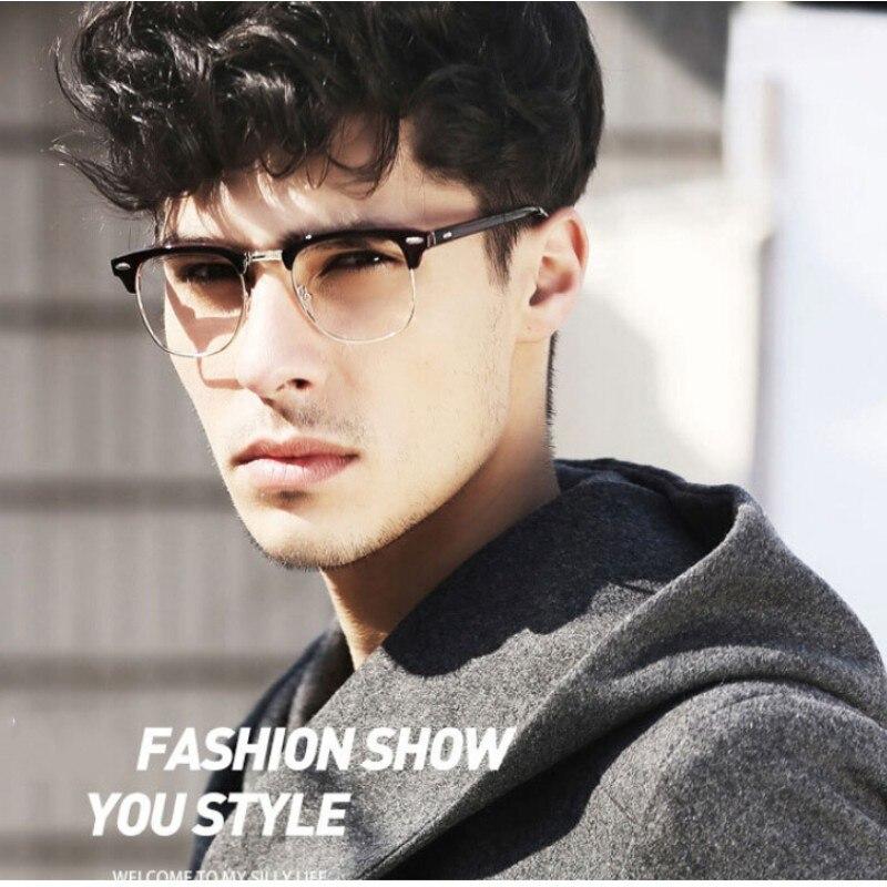 Half Frame Glasses Men New 2017 Brand Eyeglasses Computer