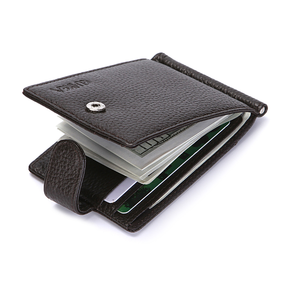 Male Purse Hasp Wallet Card-Holder Short Money-Bag Clutch Coin-Pocket RFID Black Antitheft