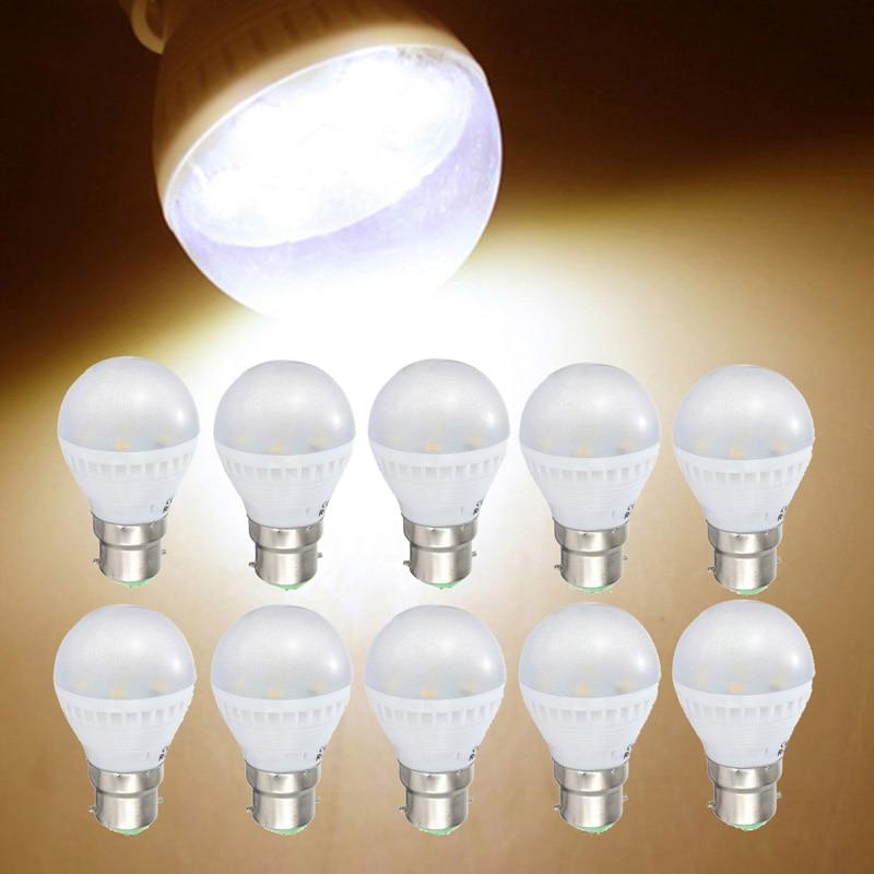 Hot sales 10Pcs 3w B22 Base 7 SMD 5050 LED Bulb Lamps Warm White Enregy Saving Spotlight Light Bulb Lamp AA