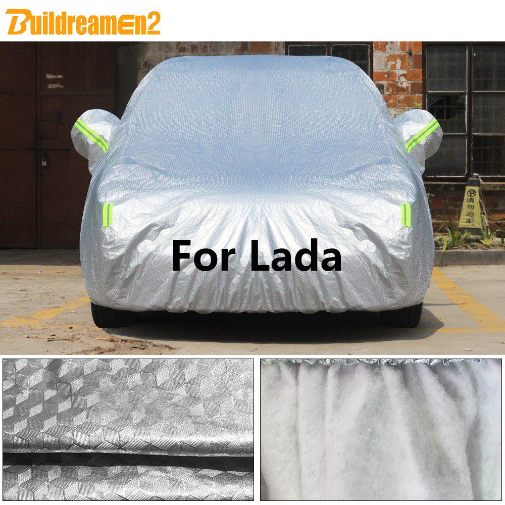 Buildremen2 สำหรับ Lada Niva 4X4 Kalina Vesta Samara 110 111 112 Largus หนา Sun Rain Snow hail ปกป้องฝาครอบกันน้ำ