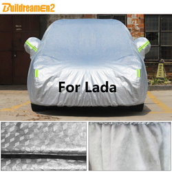 Buildremen2 For Lada Niva 4X4 Kalina Vesta Samara 110 111 112 Largus Thick Car Cover Sun Rain Snow Hail Protect Waterproof Cover