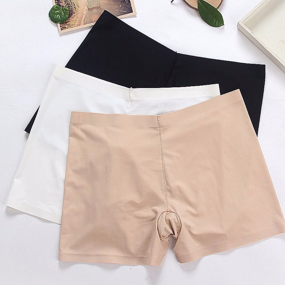 SP&CITY Women Soft Cotton Seamless Safety Short Pants Summer Under Skirt Shorts Modal Ice Silk Breathable Short Tights