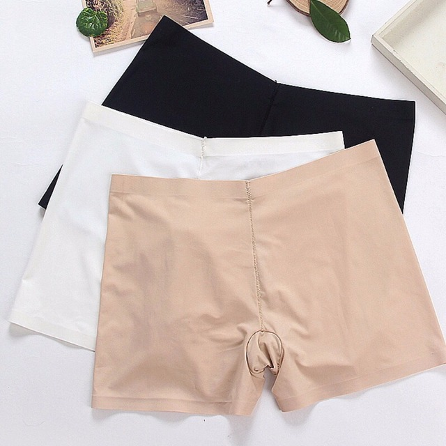 cb65deed SP&CITY Women Soft Cotton Seamless Safety Short Pants Summer Under Skirt  Shorts Modal Ice Silk Breathable Short Tights