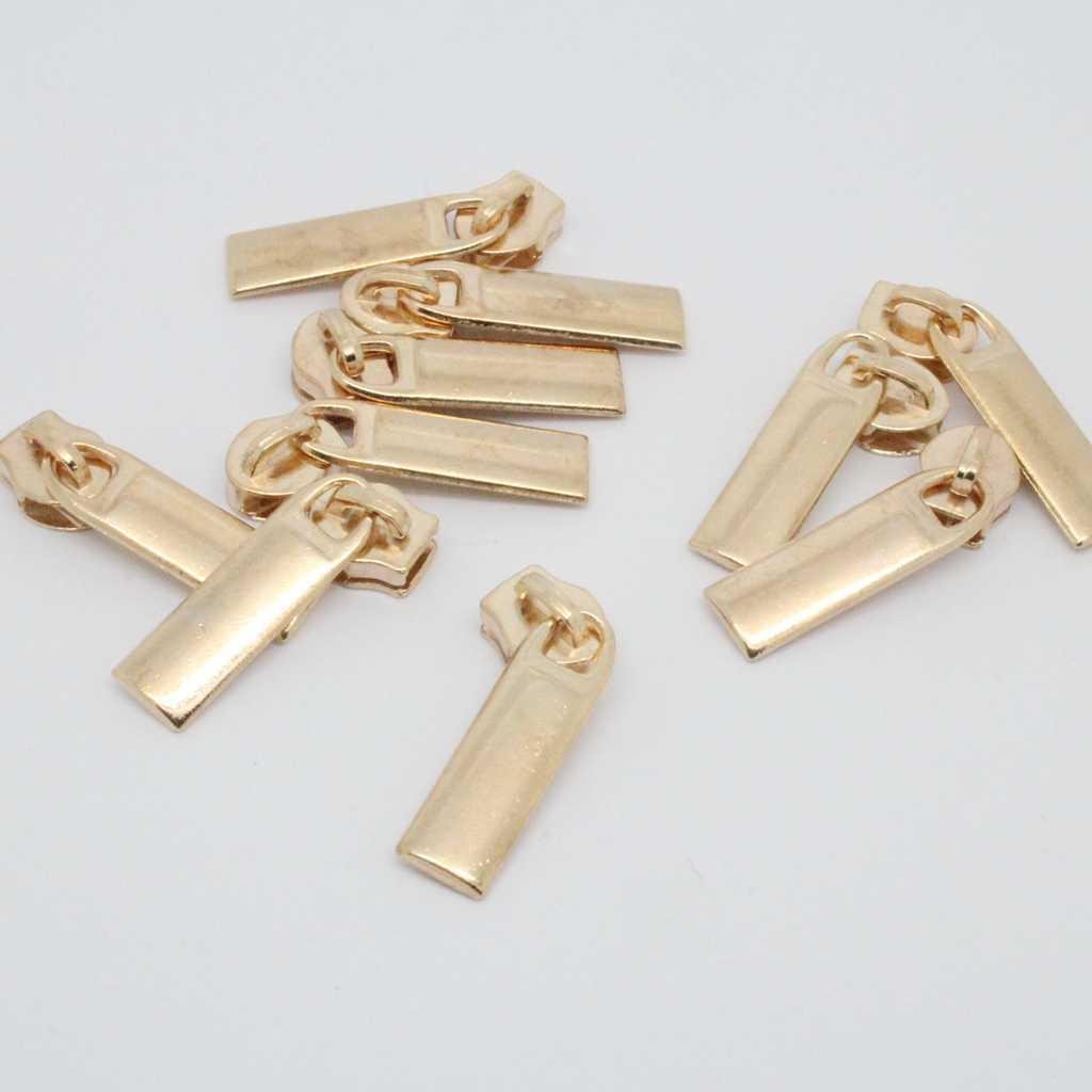 10 Chiếc Mạ Vàng Số 3 Sửa Zip Kéo/Dây Kéo Kéo Thanh Trượt Khóa Kéo Đầu Dây Kéo Sửa Chữa Ngay Bộ Có Thể Tháo Rời cứu Hộ Thay Thế 7x25mm