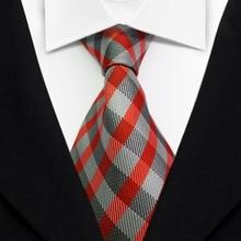 T26  Red Green Multicolor Stripe Man Luxury Silk Polyester Tie Jacquard Woven Classic Party Wedding Men's Fashion Necktie