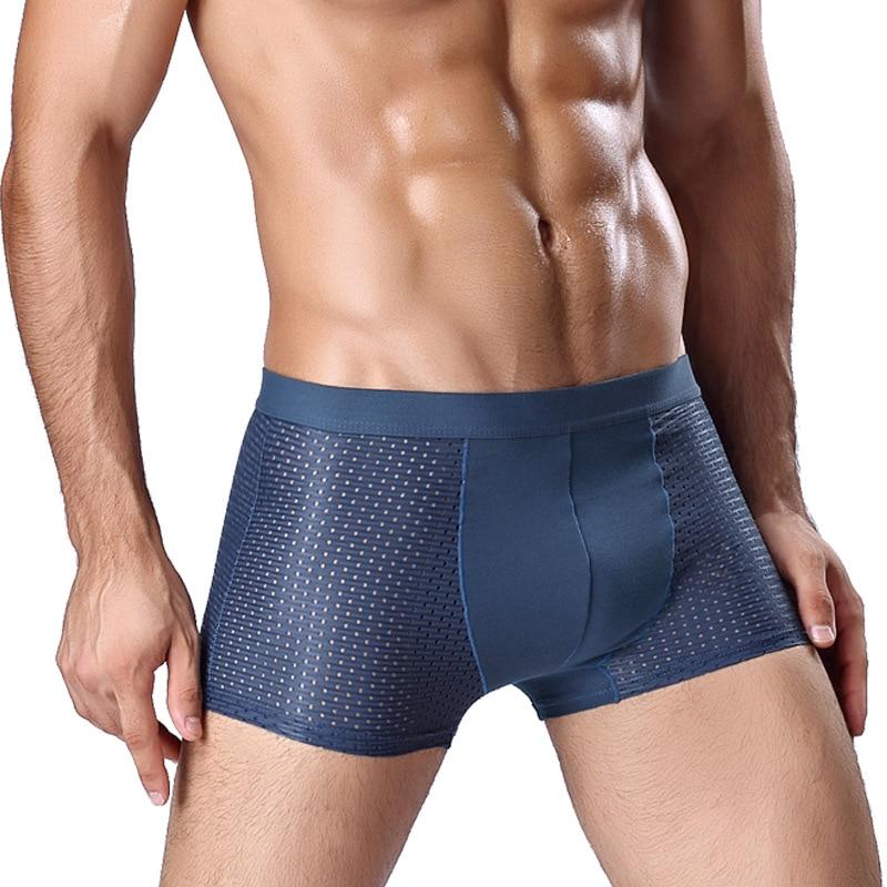 Mens Letter Pouch Briefs Underwear Bare Buttocks Shorts Underpants Panties