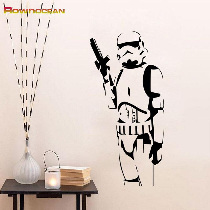 Star Wars Design Stormtrooper Stickers për Fëmijët Vinilos - Dekor në shtëpi - Foto 2