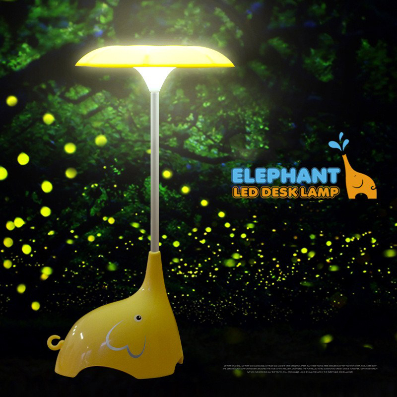 цена на Kids Children Room LED Night Lights Lamp Baby Bedroom Lamparas Novelty Elephant Light Rechargeable Touch Sensor Luminaria
