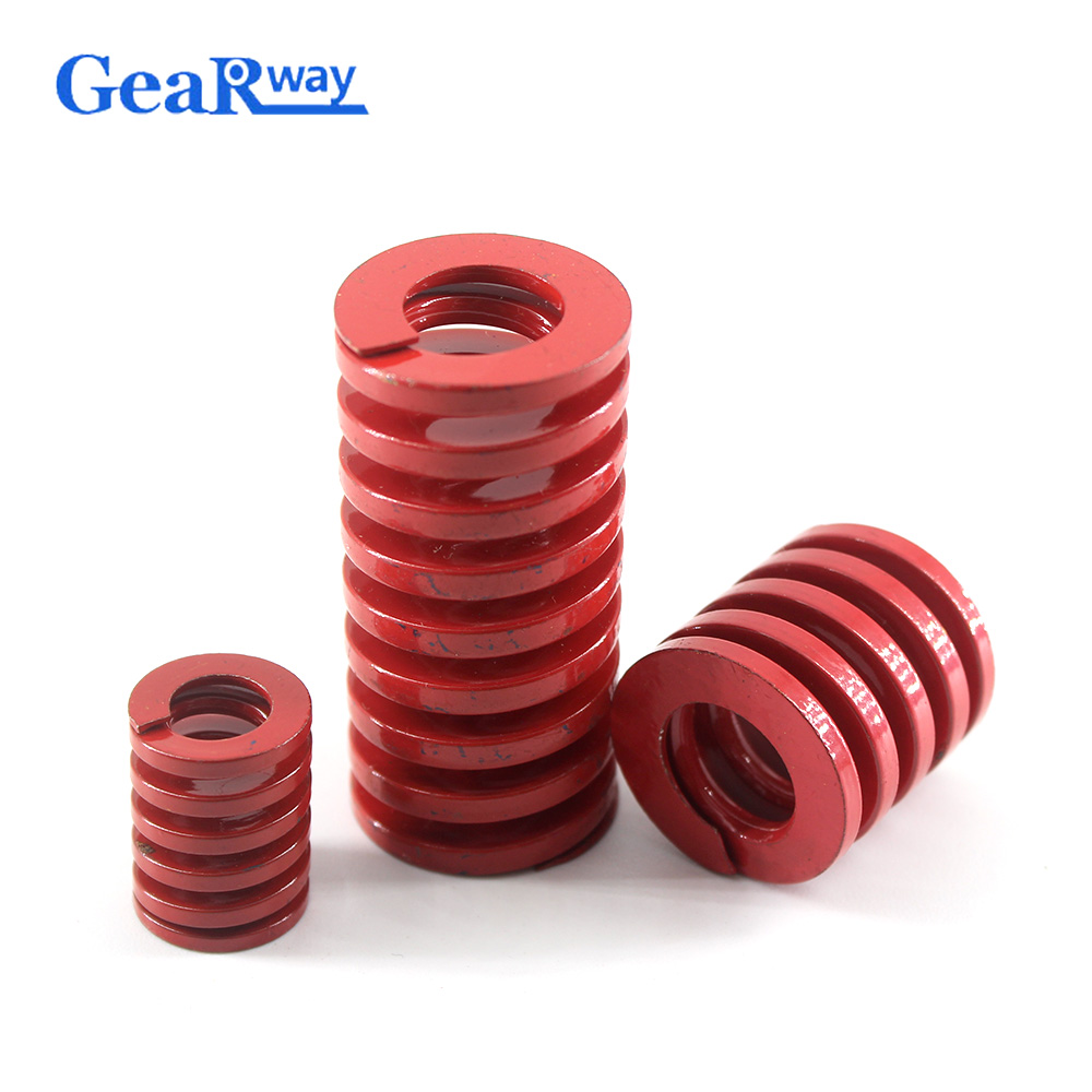 Gearway Red Compression Spring Medium Loading Mold Spring TM27x25/27x30/27x35/27x50/27x55mm Mould Die Compression Spring