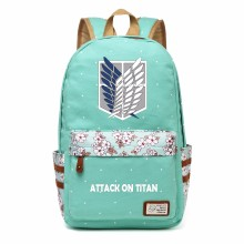 Attack on Titan  Canvas backpack Girls women dot school bag Cartoon travel Shoulder Bag ( 27 types)