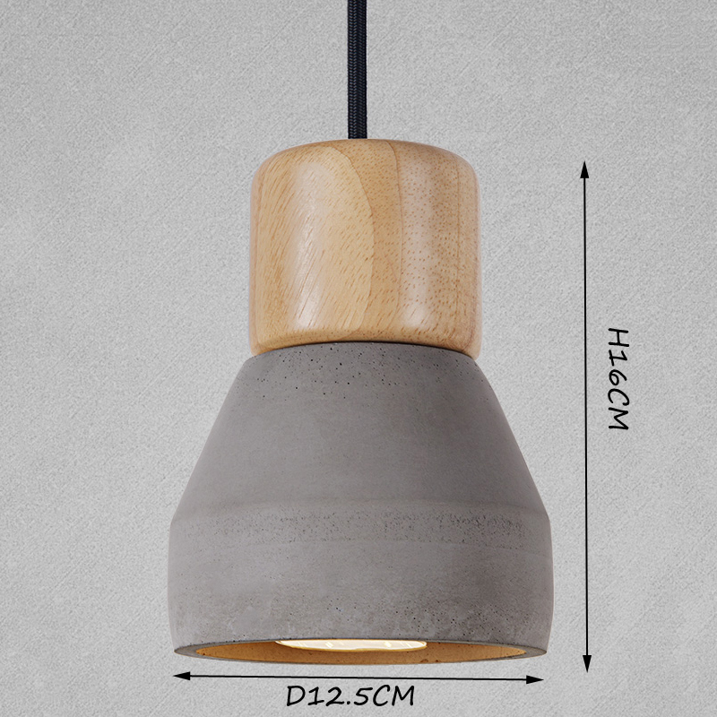 Nordic Ash Wood Cement Pendant Lamp Modern Concret Red Blue Black Gray Cement Pendant Light Drop Home Light Vintage Dining Room in Pendant Lights from Lights Lighting