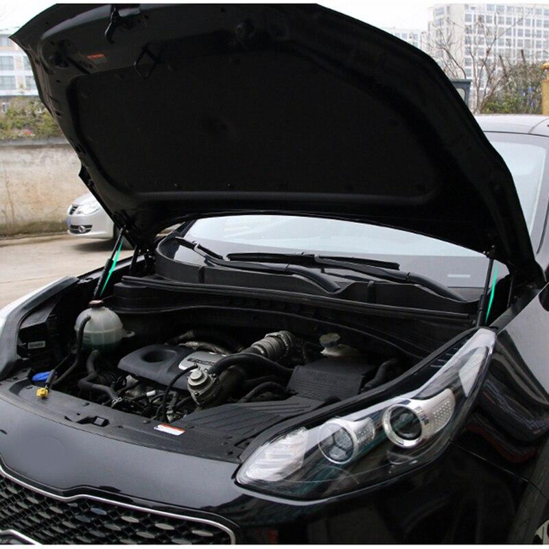 起亜の Sportage 2016 2017 2018 2019 ql KX5 車のフロントフードエンジンカバー油圧ロッドストラットスプリングバーブラケットスタイリング