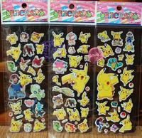 poke Sticker Poke Pikachu 3D Wall Stickers go halder children kids toys gifts Wallpaper paster Kindergarten Reward 7*17cm