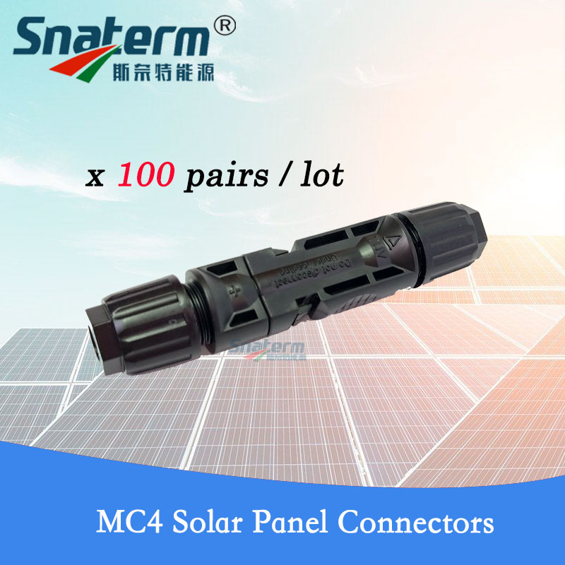 100 Pairs lot 200 Pieces TUV IP67 MC4 Solar PV Connector Female Male 2 5 4