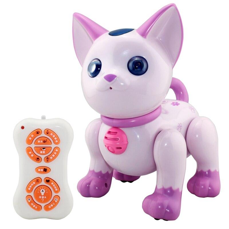 Robot Cat Toy >> 2059 2014 Electronic Pet Cat Electric Robot Cats Toy Music Shine Pet