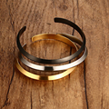 Titanium Steel 6MM Width Couple Bracelet Simple Atmosphere  Open Style Bracelet Bangle Fit Gift Adjustable bracelets for Women