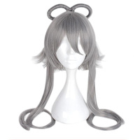 MCOSER Free Shipping 90cm Synthetic Long Straight Dark Grey Wig 100% High Temperature Fiber WIG 659D