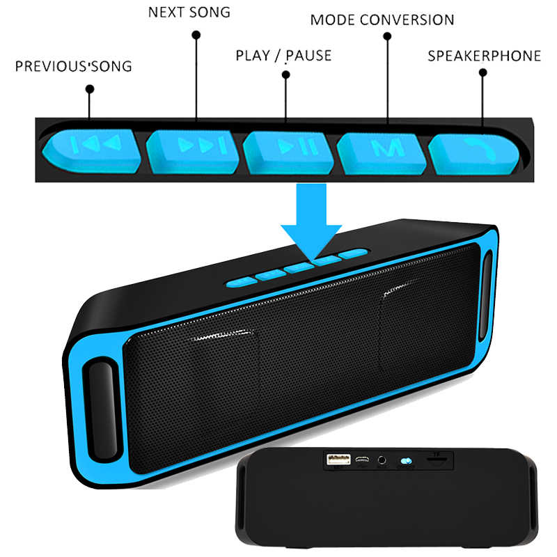 Portable Wireless Blutooth Speaker Mi 10 W Besar Power PC Mi Ni Suara Kotak Doss Handsfree BOOMBOX Radio USB Ponsel komputer untuk Xiaomi