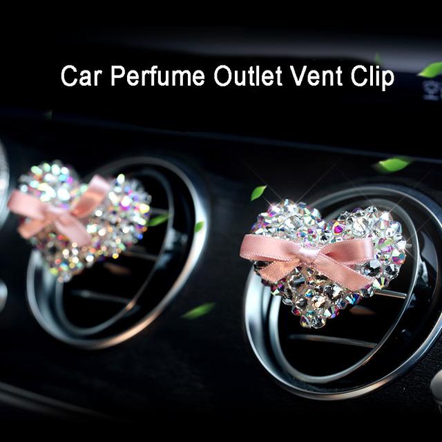 Cubierta del volante del coche de cristal rosa para niñas accesorios del coche de las señoras Bling Rhinestone Cenicero decoración del Interior del coche