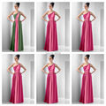 New Style One Shoulder With Sash Floor Length Multi Colored Chffion Purple Green Fuchsia Bridesmaid Dresses