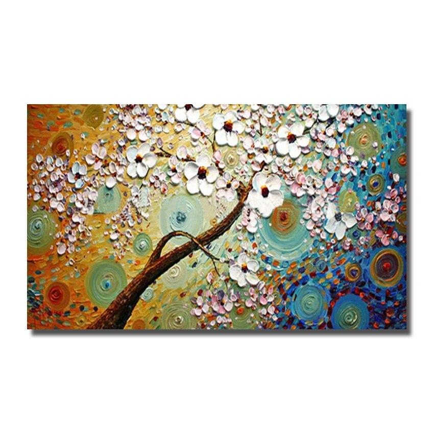 cuadros de la pared pintada a mano moderna de la flor pinturas arte gran lienzo pintado