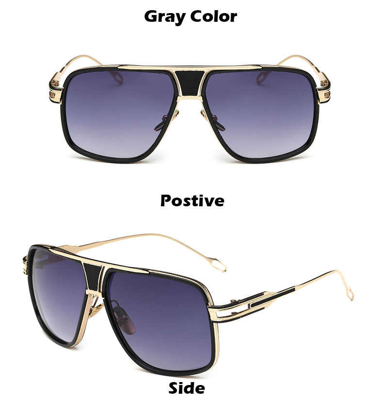 aebd9f0c56c ... 2018 New Fashion Big Frame Sunglasses Men Square Fashion Glasses for  Women High Quality Retro Sun ...