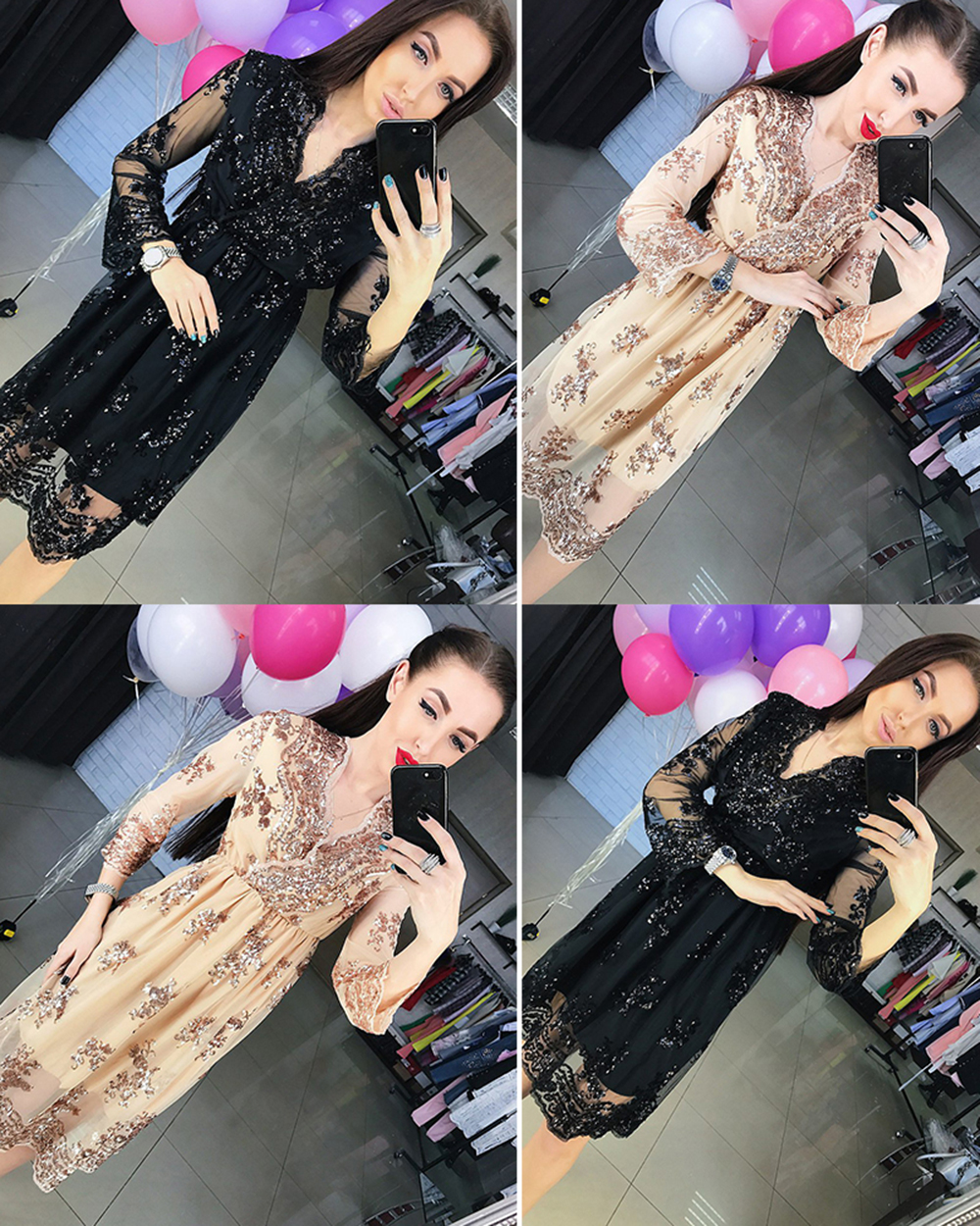 HTB1Lk9WafjM8KJjSZFNq6zQjFXaB - FREE SHIPPING Sequins Dress Vestidos Sexy Club V Neck Long Dress JKP344