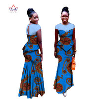 3c30b7143a8 African Suits For Women Two Piece Set O Neck Plus Size Africa Clothing Women  Fashion Short