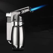 핫 컴팩트 부탄 제트 라이터 토치 터보 라이터 화재 방풍 스프레이 건 금속 파이프 시가 라이터 1300 C NO GAS