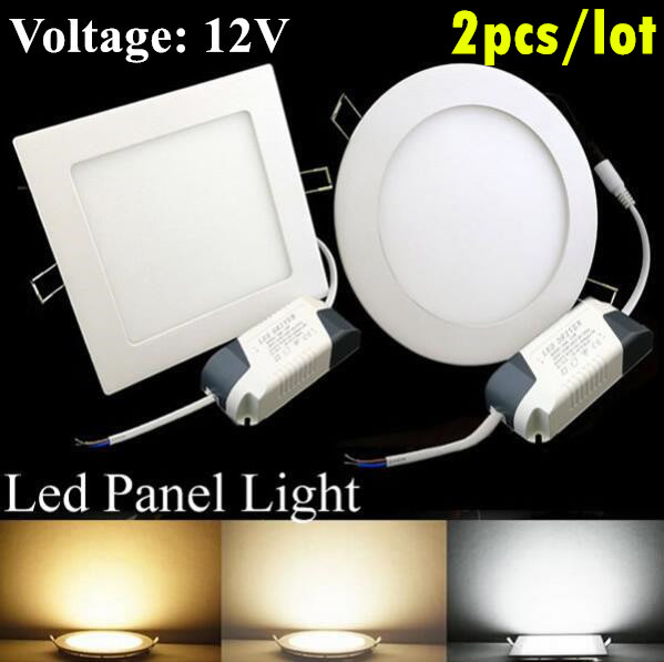 LED panel lights12V 6W 9W 12W 15W 18W 24W membawa lampu siling - Pencahayaan LED