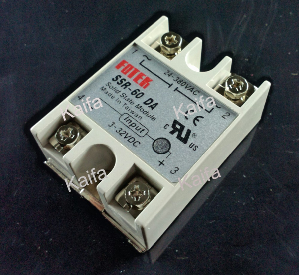 Solid State Relay SSR-60DA 60A 3-32VDC 24-380VAC SSR solid state relay g3nb 240 5 b 1 24 vdc