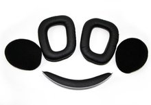 Free Shipping Replacement Headphones Ear Pad  Ear Cushion  Earpads Repair Parts For Logitech G930 Headphones Black