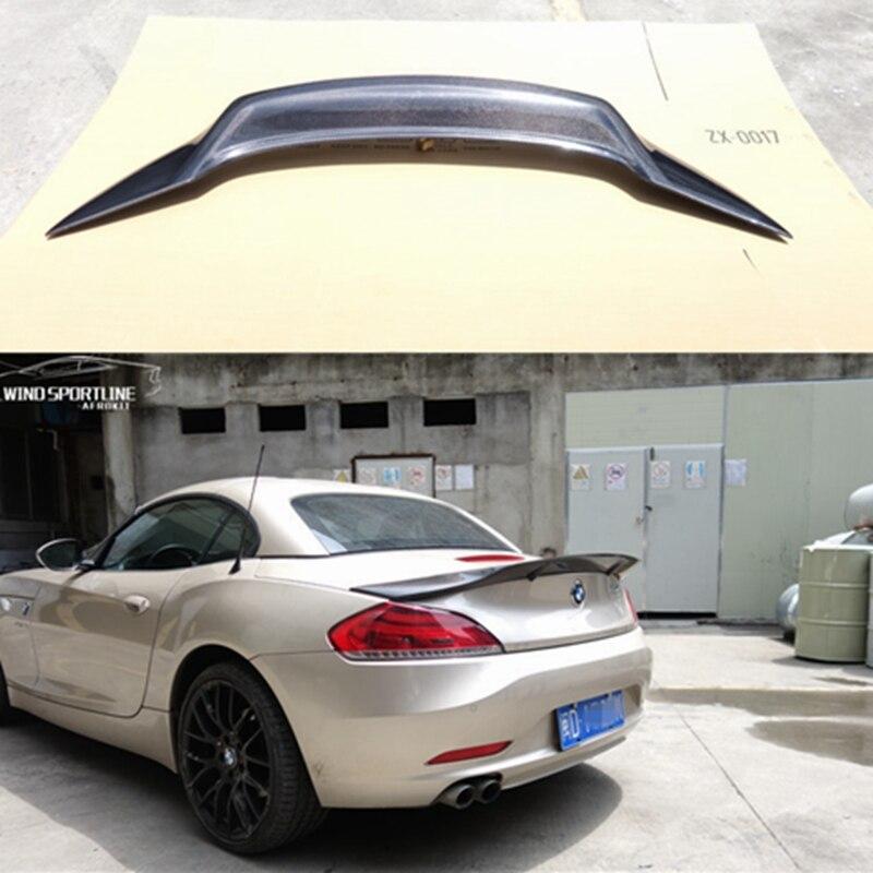 For BMW Z4 E89 Coupe Car Decoration 18i 20i 23i 28i 30i 35i Carbon Fiber Rear Trunk Spoiler 2009 2013 R Style