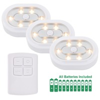 Remote Controlled Dimmable LED Cabinet Light Battery Powered Wireless LED Night Lights Adjustable Lighting Direction