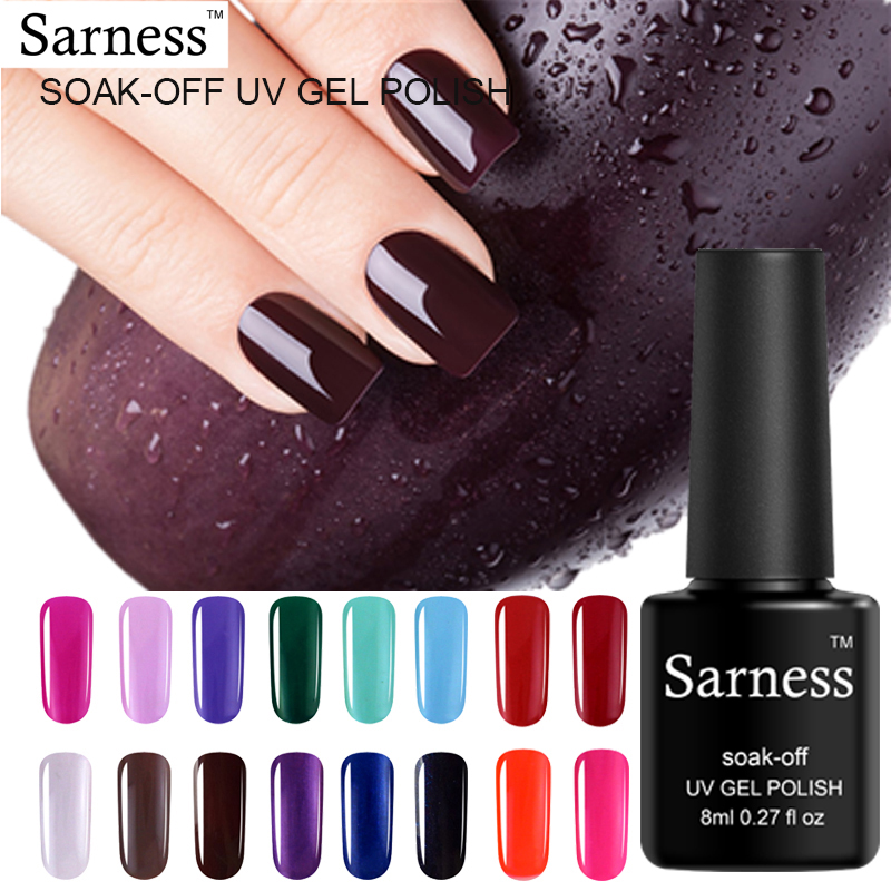 Gel Nail Polish Sale: Sarness Hot Sale Gel Polish 29 Colors Nail Art Pure Color