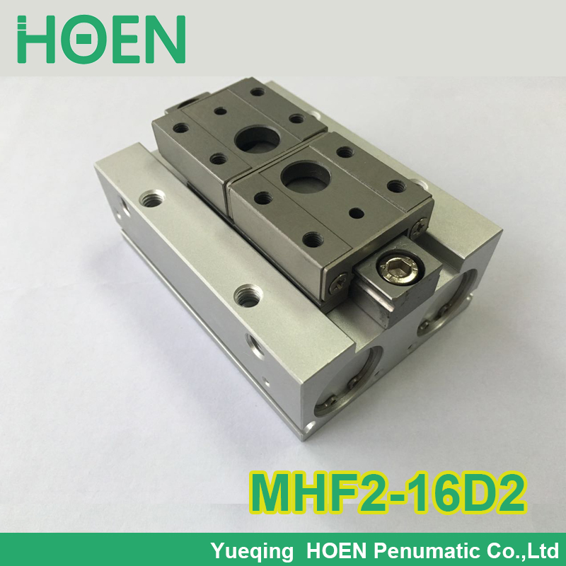 MHF2-16D2 SMC type air pneumatic gripper MHF series with strong gripping force MHF2 16D2 high quality double acting pneumatic gripper mhy2 25d smc type 180 degree angular style air cylinder aluminium clamps