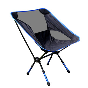 Image 5 - Stainless steel beach chair siege pliant multifunctional garden chair