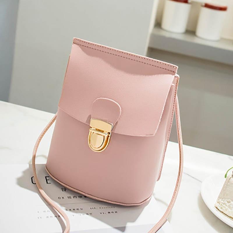 2019 Fashion Small Shoulder Bag Women PU Leather Crossbody Bucket Bag Mini Mobile Phone Holder Coin Purse For Teenage Girls Kids