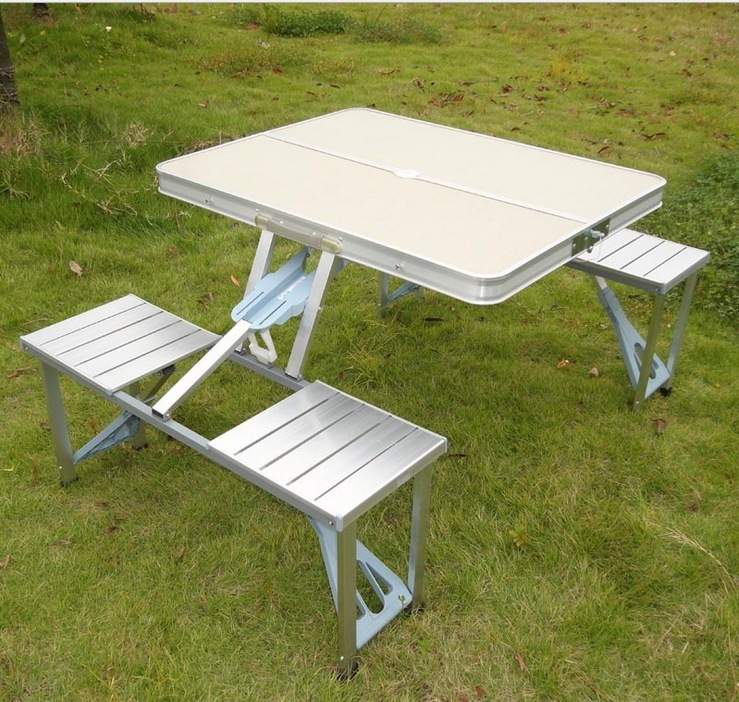 Quality Goods Aluminium Fold And Chairs Outdoors Portable Exhibition Table Propaganda Stall Table 6ft trade show table high quality table for fair exhibition table can be folded in half