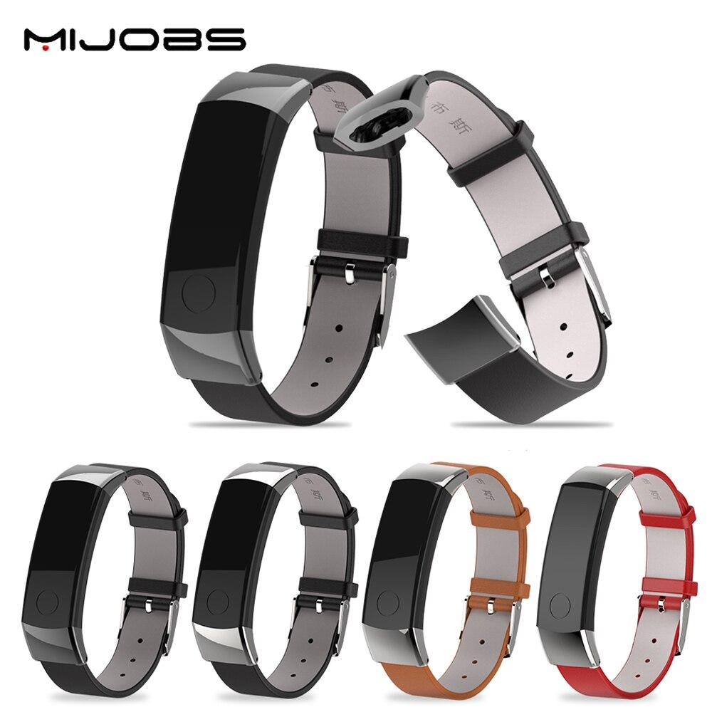 D'origine Mijobs Mode Sport Remplacement Véritable Bracelet En Cuir Souple Sangle Poignet Bande pour Huawei Honneur 3 Montre Smart Watch