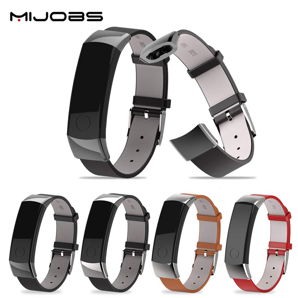 Original Mijobs Fashion Sports Replacement Genuine Leather Bracelet Soft Strap Wrist Band For Huawei Honor 3 Smart Watch