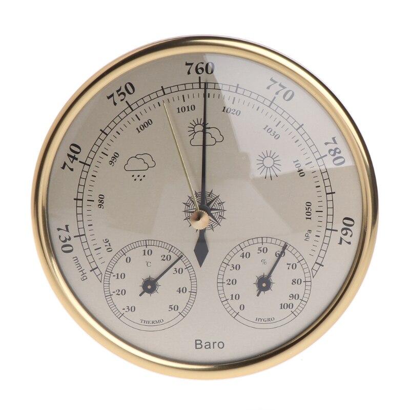 Montado en la pared del hogar barómetro termómetro higrómetro estación meteorológica colgando