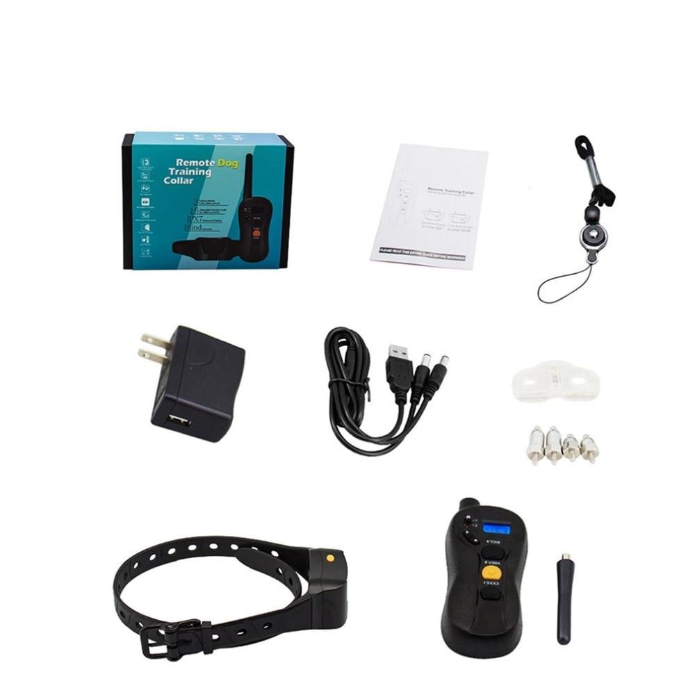 Dispositif de formation de chien à distance étanche Rechargeable Anti-aboiement choc électrique collier de Vibration répulsif chien formateur