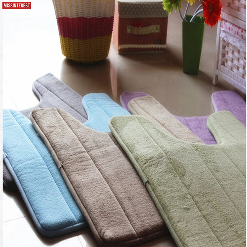 Missinterest High quality U Shaped Bath Mats Soft Pats Anti Slip Home Bathroom Carpet Decoration Bath Toilet Accessories 40*60cm