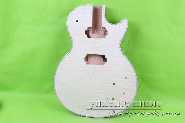one Unfinished electric guitar body mahogany wood made maple top 28 # new electric guitar body solid body mahogany flame maple veneer unfinished 868